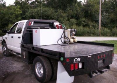 54.RKI Underbody Boxes, 100 Gallon Transfer Tank With I/R Wheelbarrow Compressor