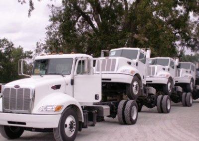 24.Trucks shipped in for upfit.