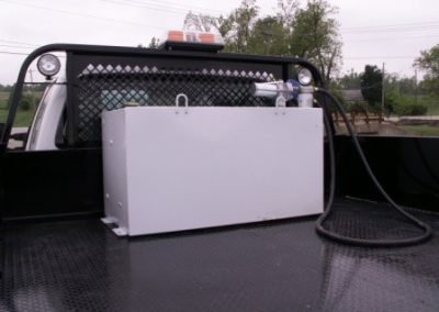 63.100 Gallon Cube Fuel Transfer Tank with pump & Ecco Strobe Light