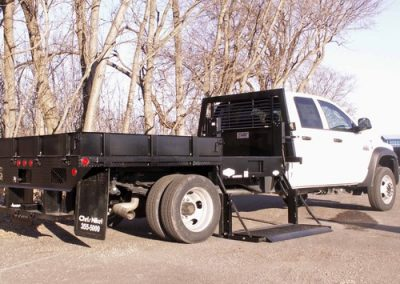 24. Custom Flatbed with Side Mount Liftgate