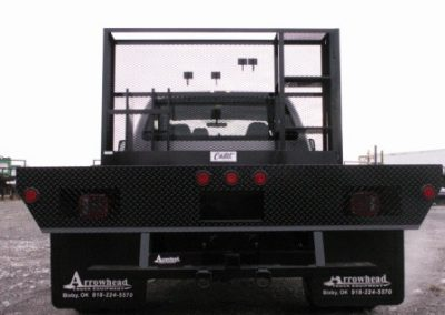 27. 9' Custom Flatbed w/ Front Tool Cage