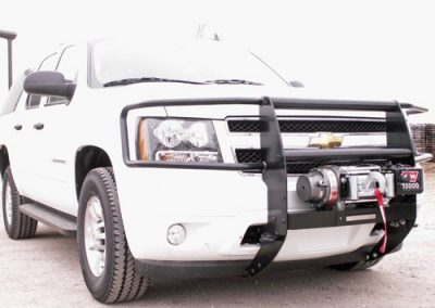 38.Warn Grill Guard with Winch